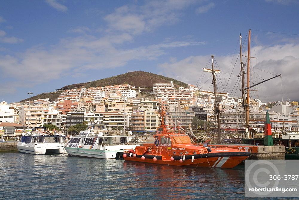 Los Cristianos harbour, Tenerife, Canary Islands, Spain, Atlantic, Europe