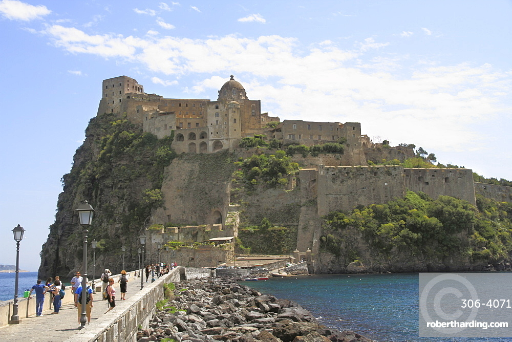 Castle, island of Ischia, Campania, Italy, Mediterranean, Europe