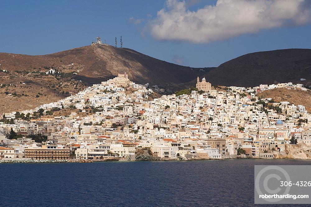 Ermoupolis, capital of Cyclades Islands, Syros, Greek Islands, Greece, Europe