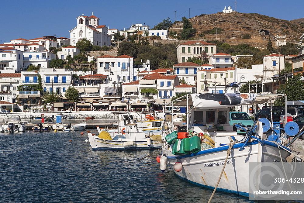Batsi harbour, Andros, Cyclades Islands, Greek Islands, Greece, Europe