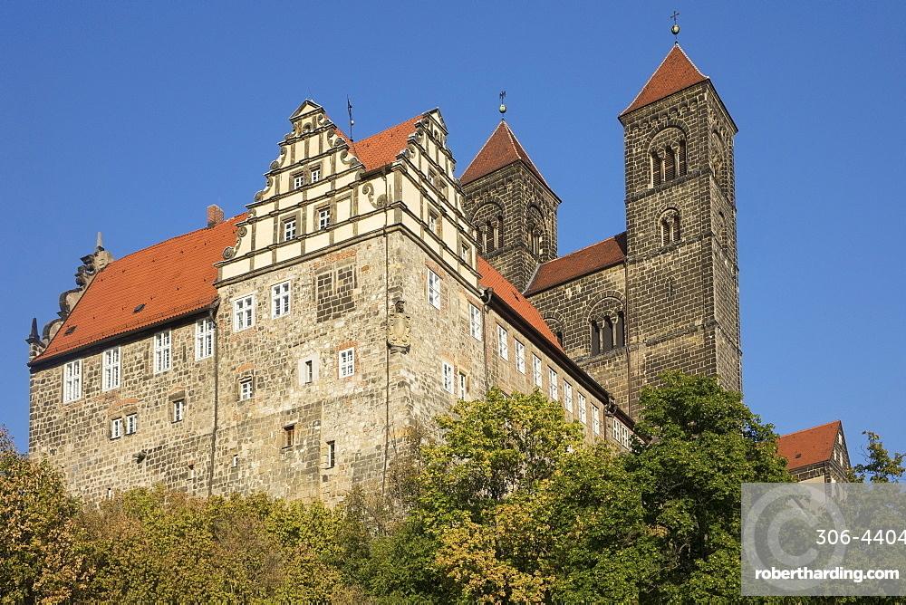 Schloss Quedlinburg, Harz, Saxony-Anhalt, Germany, Europe