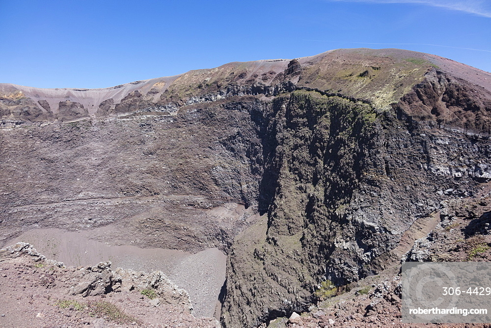 Crater of Vesuvius, Campania, Italy, Europe