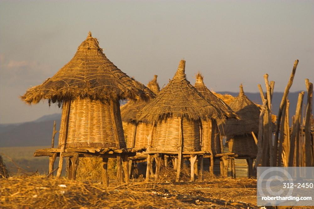 Kolcho village, Lower Omo Valley, Ethiopia, Africa