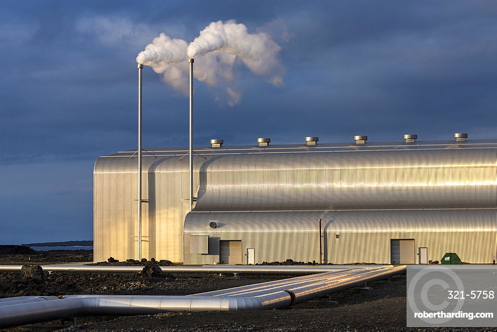 The Reykjanes Power Station is a geothermal power station located in Reykjanes at the southwestern tip of Iceland, Polar Regions