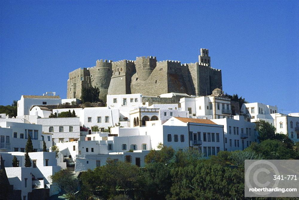 Monastery of St. John, Patmos, Dodecanese, Greek Islands, Greece, Europe
