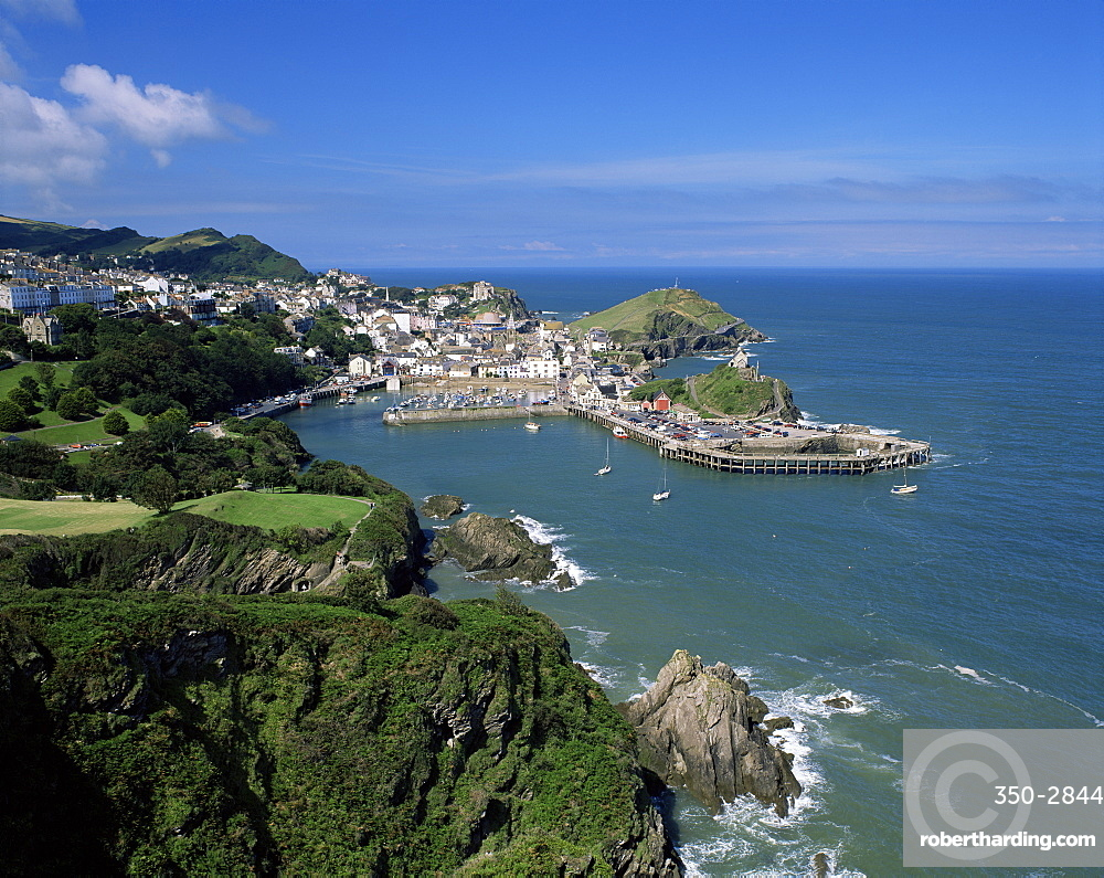 View over Ilfracombe, north Devon, England, United Kingdom, Europe