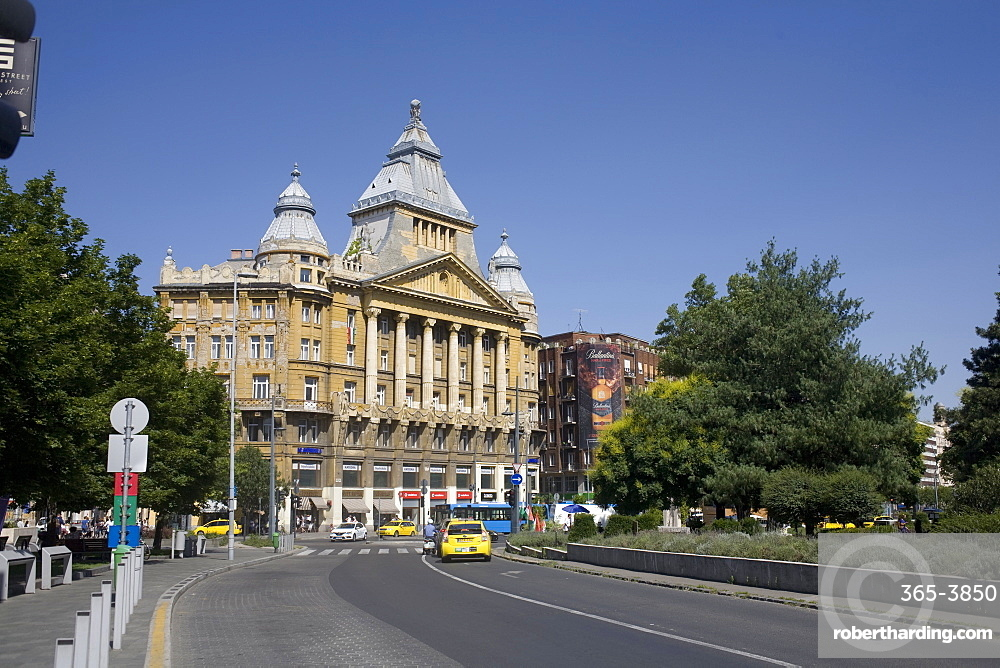 Deak Ferenc Square with the former Anker Palace, Budapest, Hungary, Europe