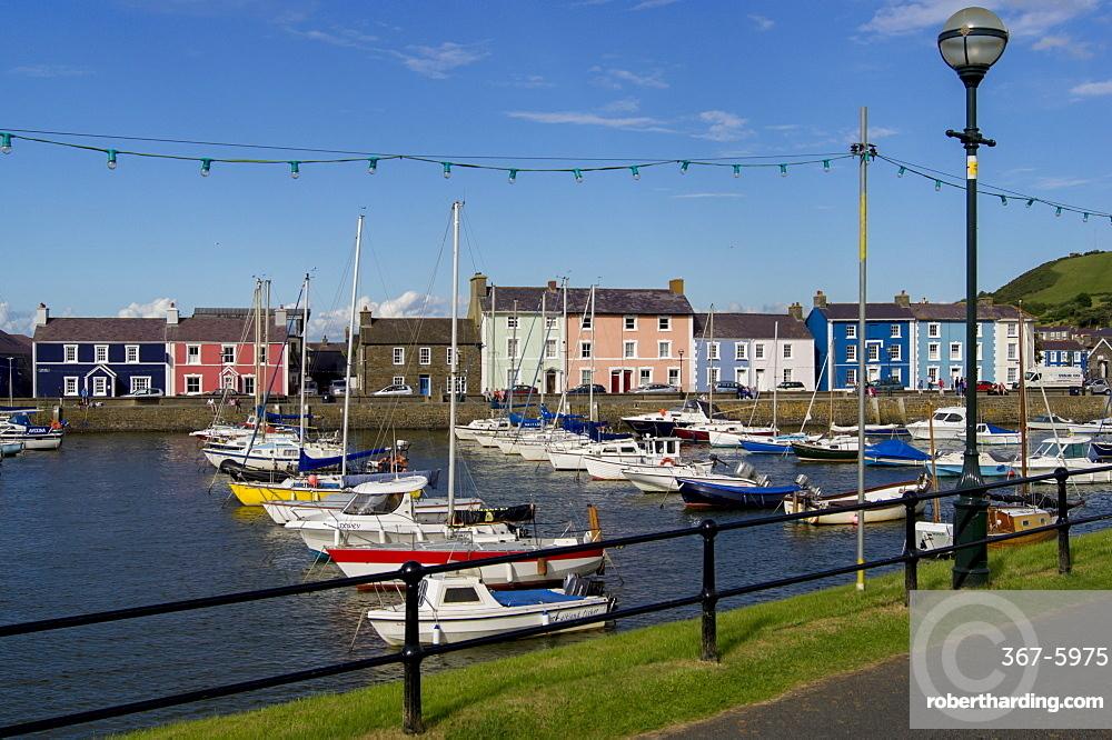 Waterfront of Aberaeron port, Ceredigion, Wales, United Kingdom, Europe