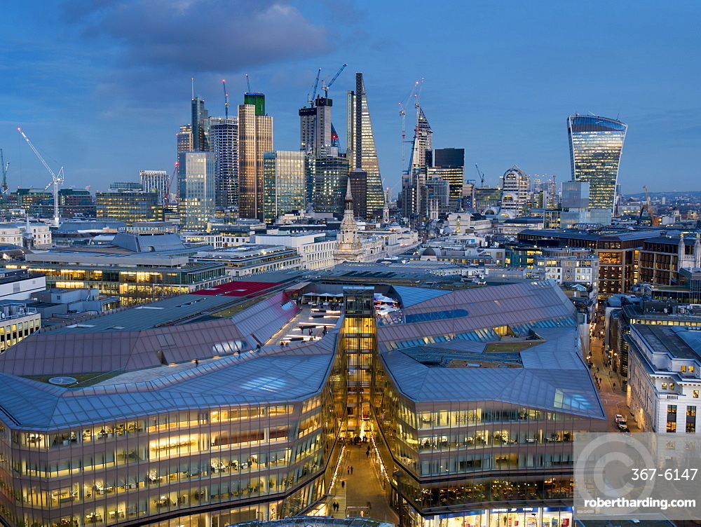 City Square Mile from St. Pauls, London, England, United Kingdom, Europe