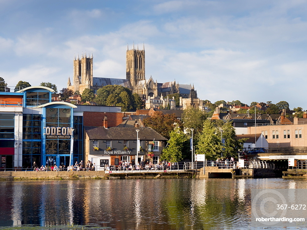 Lincoln Cathedral and Brayford pool