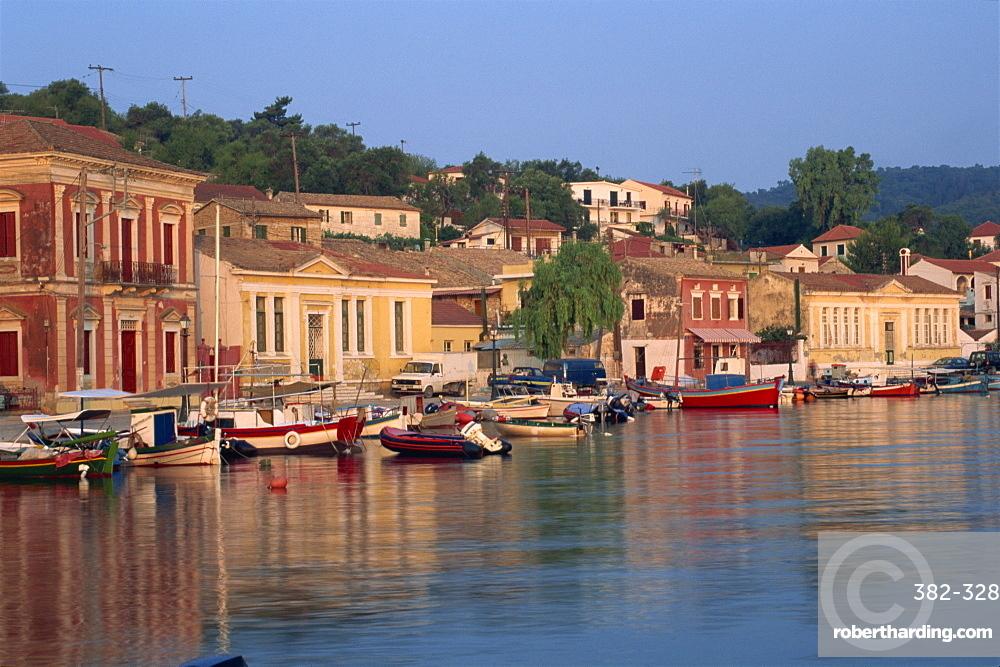 Gaios Harbour, Paxos, Greek Islands, Greece, Europe