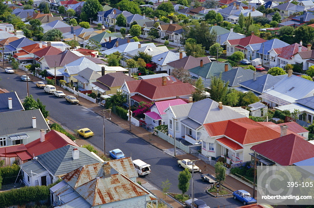 Aerial View Of Wooden Villas Stock Photo
