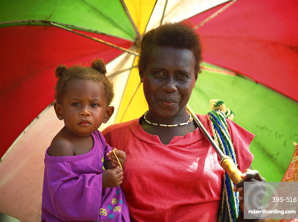 Woman and child, Solomon Islands, Pacific Islands, Pacific