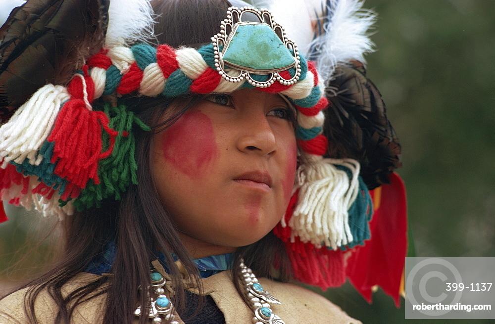 Zuni girl, Gallup, New Mexico, United States of America, North America