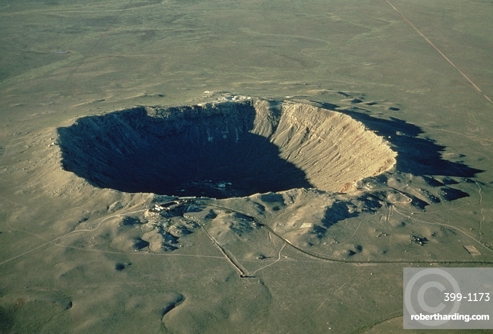 Meteor crater, the largest known in the world, Arizona, United States of America, North America