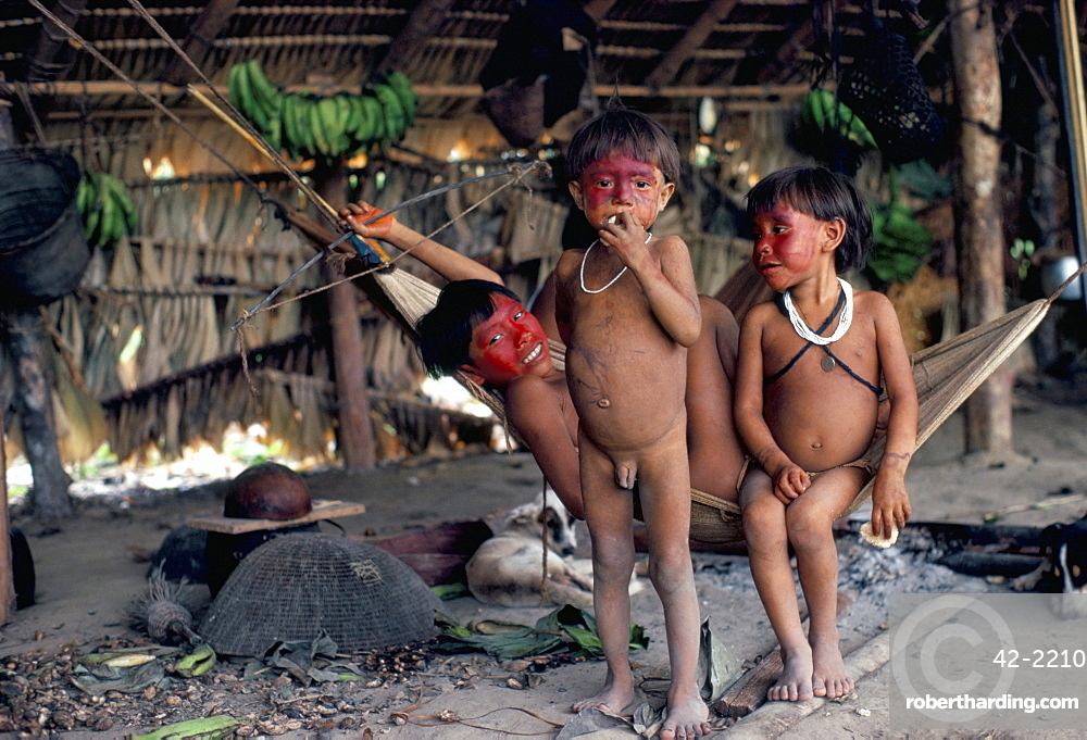 Yanomami children, Brazil, South America