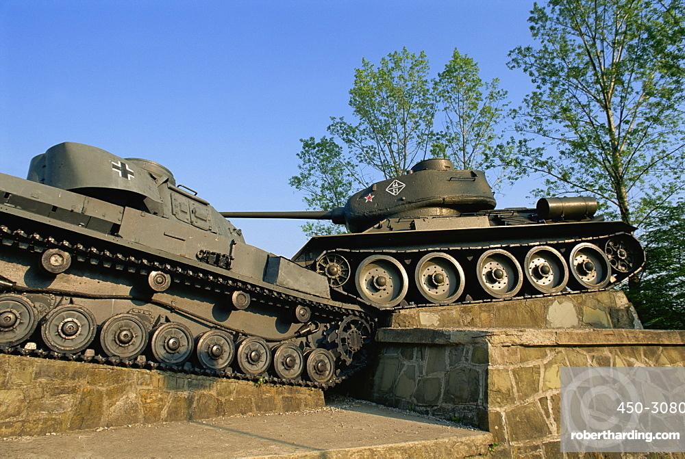 World War II memorial of Nazi and Russian battle, Dukla Pass, Slovakia, Europe