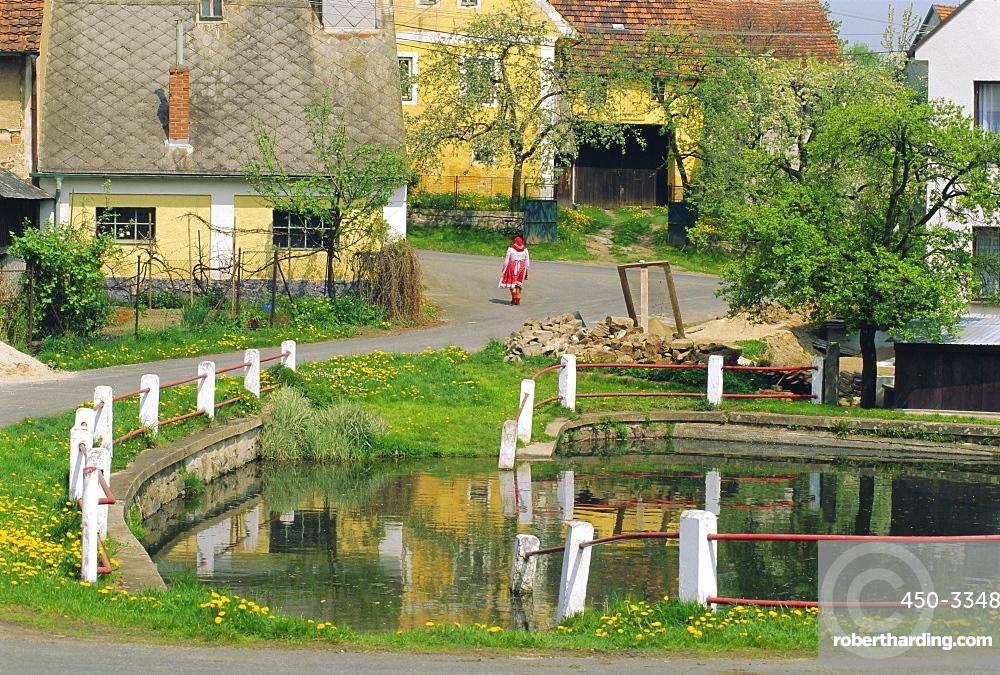 Chod village near Domazlice Ujezd, West Bohemia, Czech Republic, Europe