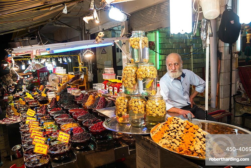 Food stall, Darband, Northern Tehran, Iran, Middle East