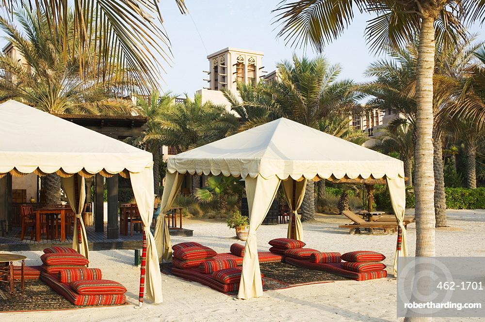 The beach at the Madinat Jumeirah Hotel, Dubai, United Arab Emirates, Middle East