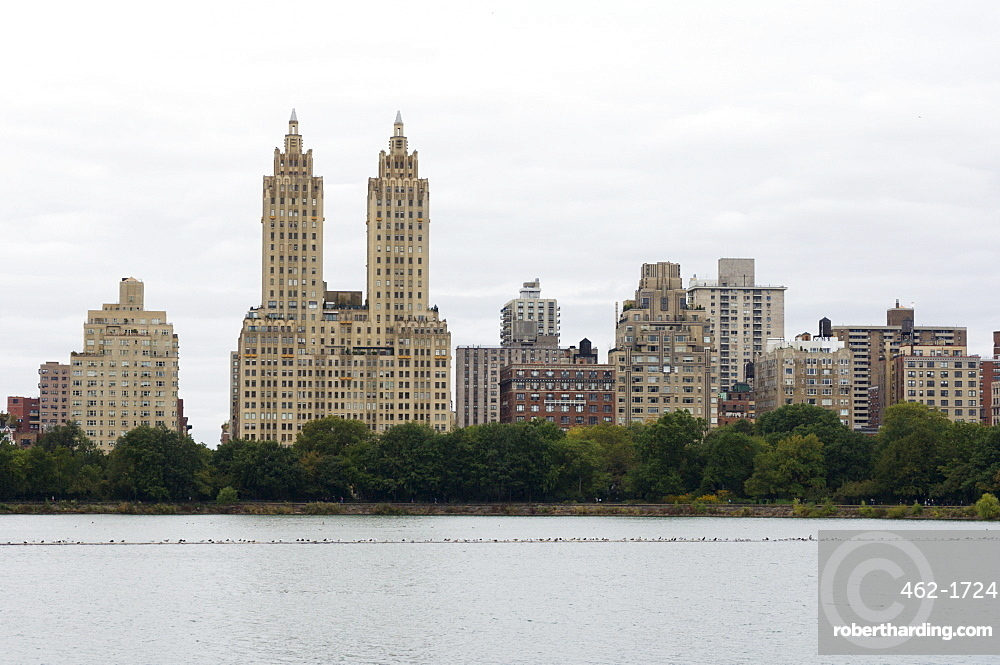 The San Remo Building, Upper West Side, from Central Park, Manhattan, New York City, New York, United States of America, North America