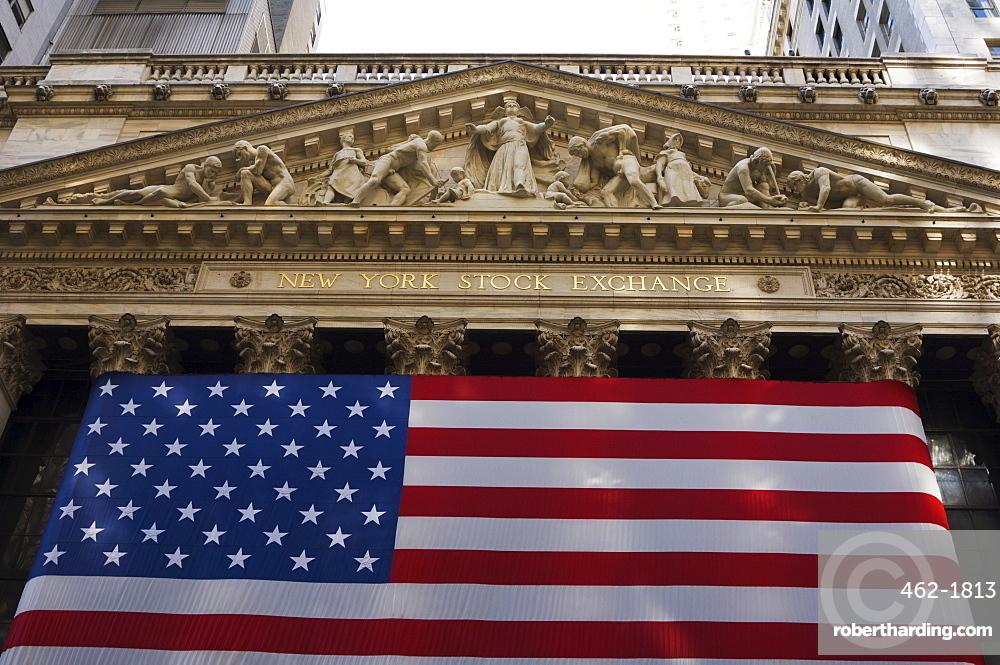The New York Stock Exchange, Wall Street, Manhattan, New York City, New York, United States of America, North America