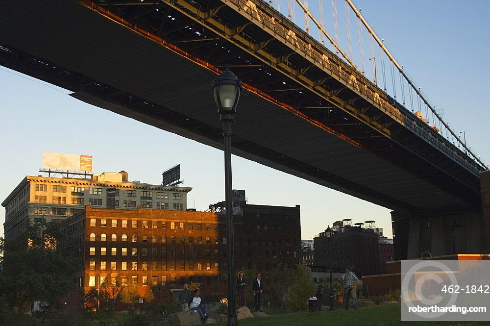 DUMBO (Down Under Manhattan Bridge Overpass) neighbourhood, Brooklyn, New York City, New York, United States of America, North America