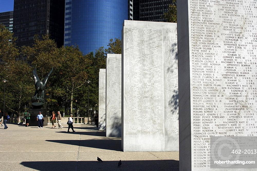 War Memorial, Battery Park, Manhattan, New York City, New York, United States of America, North America