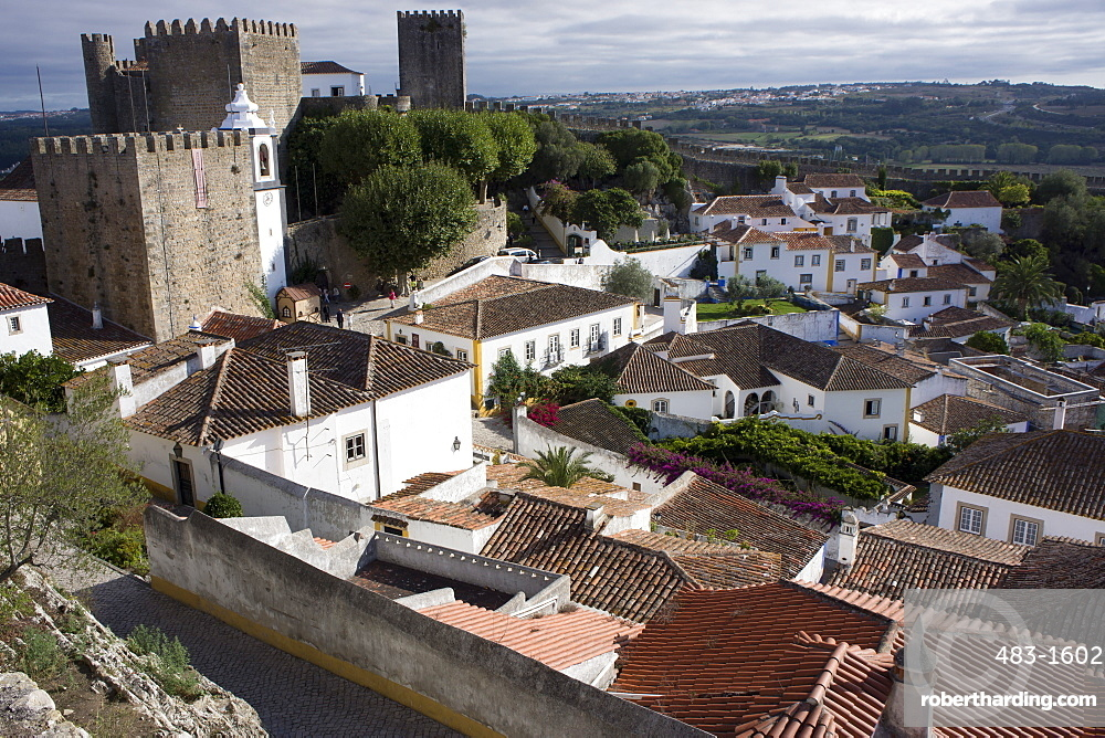 Walled medieval town, declared national monument, Obidos, Estremadura, Portugal, Europe