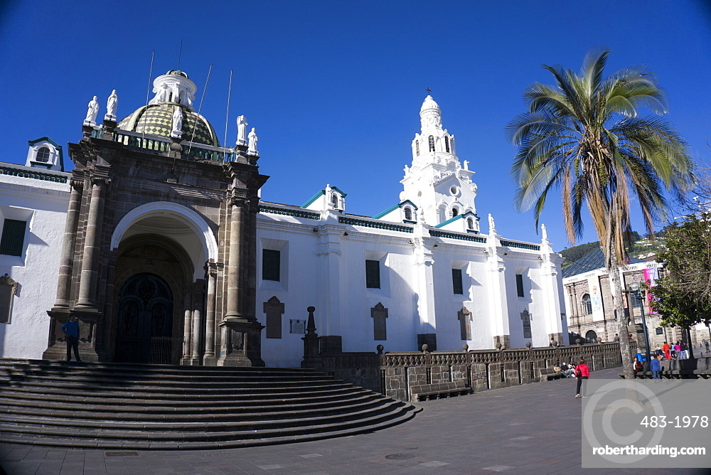 Iglesia de San Francisco, UNESCO World Heritage Site, Quito, Ecuador, South America