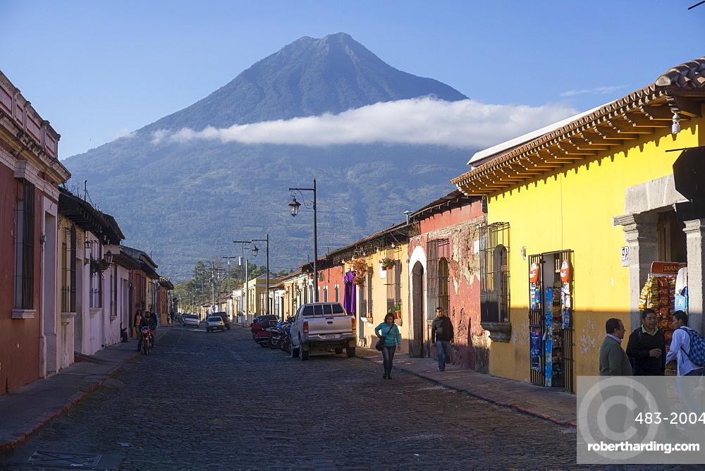 Antigua and Vulcano Fuego, Guatemala, Central America