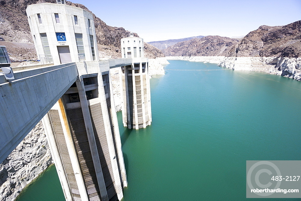 Hoover Dam and lake, border of Arizona and Nevada, United States of America, North America