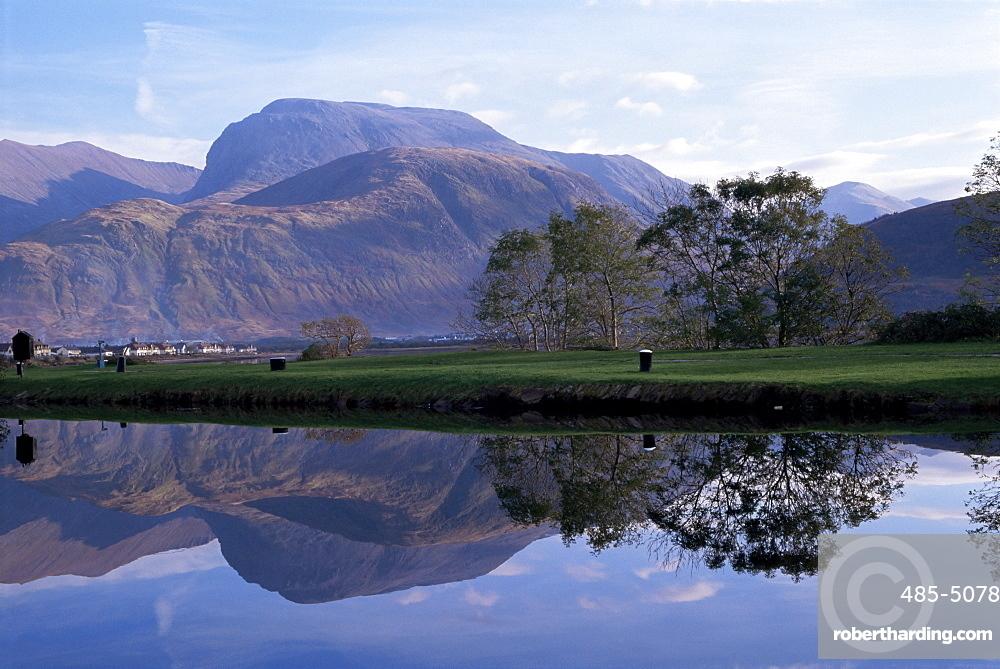 Ben Nevis from Corpach, Highland region, Scotland, United Kingdom, Europe