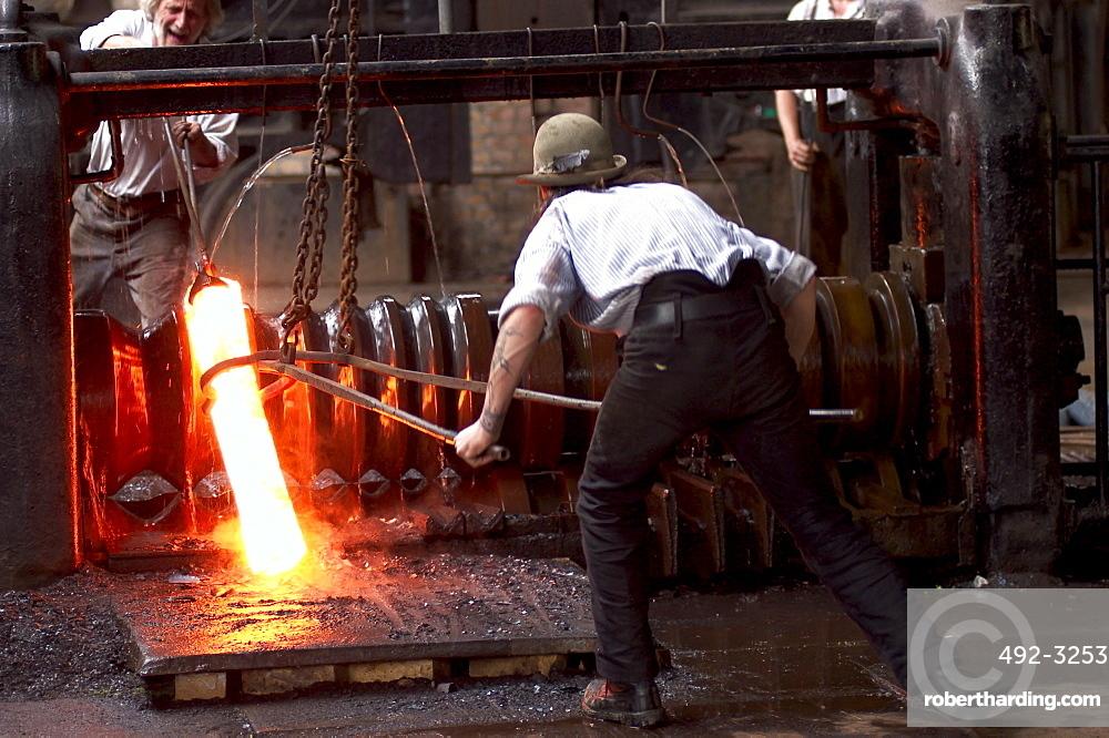 Rolling Mill, Ironworks, Blists Hill Victorian Town, Ironbridge, Shropshire, United Kingdom, Europe