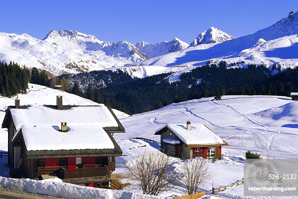 Ski resort, Arosa, Graubunden region, Swiss Alps, Switzerland, Europe