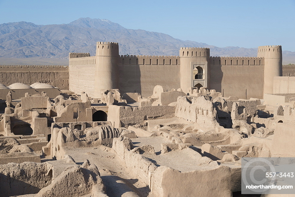 Desert citadel, Rayen, Iran, Western Asia