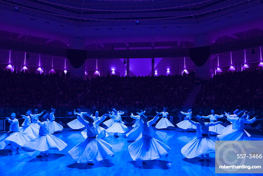 Whirling Dervishes at the Mevlana Culture Centre, Konya, Central Anatolia, Turkey, Asia Minor, Eurasia