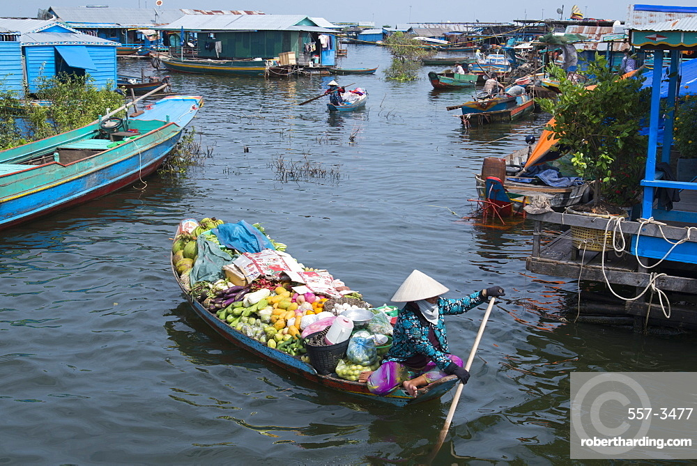 Kompong Luong floating village, Tonle Sap lake, Cambodia, Indochina, Southeast Asia, Asia