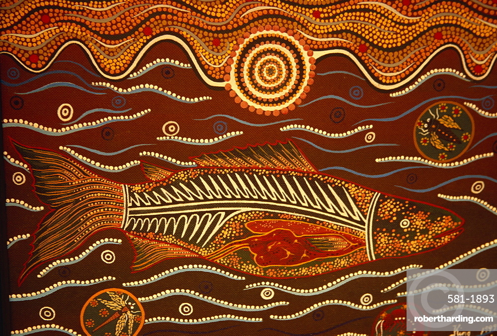 Painting from the Dreamtime, Aboriginal | Stock Photo