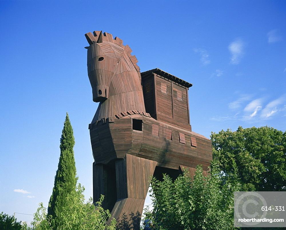 Exterior of the replica Trojan Horse, Troy, Anatolia, Turkey, Asia Minor, Asia