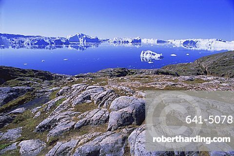 The icefjord at Sermermiut, Ilulissat, formerly Jacobshavn, Greenland, Polar Regions