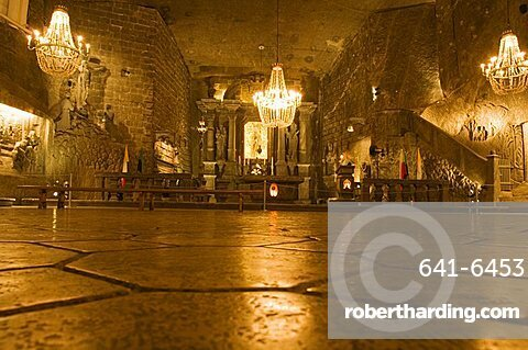 The Cathedral in the Wieliczka Salt Mine, UNESCO World Heritage Site, near Krakow (Cracow), Poland, Europe