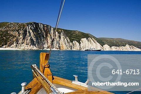 Myrtos Gulf near Assos, Kefalonia (Cephalonia), Ionian Islands, Greece, Europe
