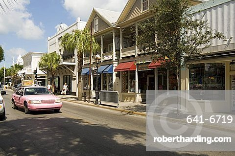 Pink taxis, Duval Street, Key West, Florida, United States of America, North America