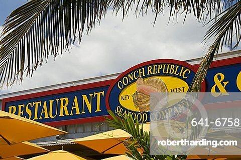 Conch Republic restaurant beside the marina, Key West, Florida, United States of America, North America