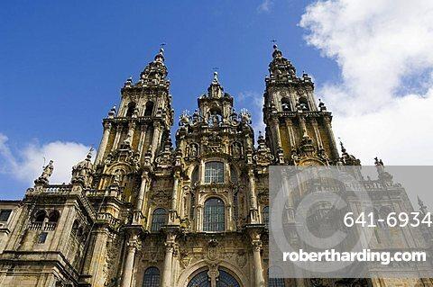 Santiago Cathedral, UNESCO World Heritage Site, Santiago de Compostela, Galicia, Spain, Europe