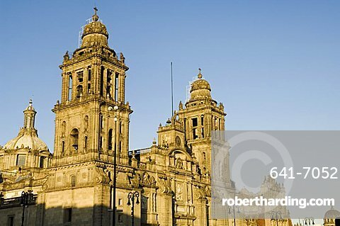 Metropolitan Cathedral, Zocalo, Centro Historico, Mexico City, Mexico, North America