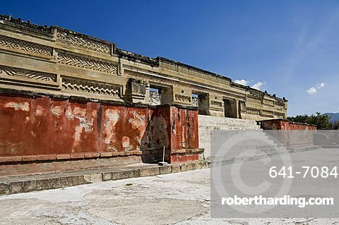 Palace of the Columns, Mitla, an ancient Mixtec site, Oaxaca, Mexico, North America