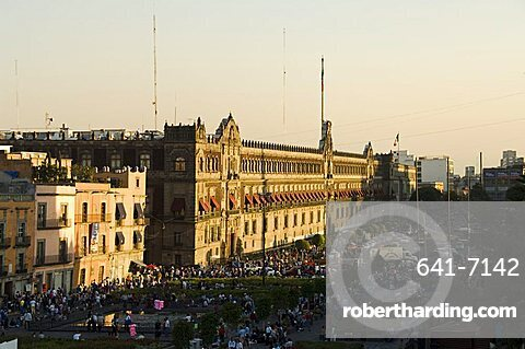 The National Palace, Zocalo, Centro Historico, Mexico City, Mexico, North America