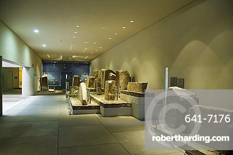 The archaeology museum at Monte Alban, near Oaxaca City, Oaxaca, Mexico, North America